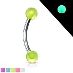 Piercing pour arcade acry 17 - Fluorescent boules