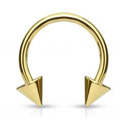 Piercing fer à cheval 04 - Plaqué-or pointes