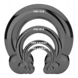 Piercing fer à cheval PVD black-line boules 2 à 6mm