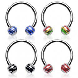 Piercing micro-circulaire 12 - Acier boules striées