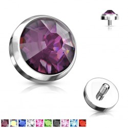 Embout microdermal strass plat