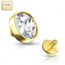 Embout microdermal strass plat or-14K