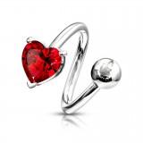 Piercing spirale 27 - Coeur