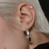 Piercing micro-labret 131 - PVD papillon strass