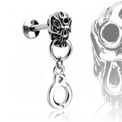 Piercing micro-labret 118 - Crâne et menottes