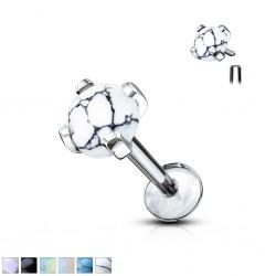 Piercing micro-labret 117 - Pierre semi-précieuse