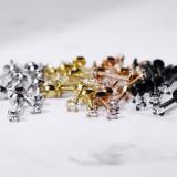 Piercing micro-labret 115 - PVD zircone pétale