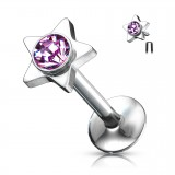 Piercing micro-labret 31 - Strass in étoile
