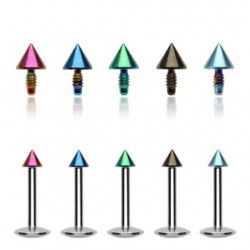 Piercing micro-labret 32 - PVD pointe screw in