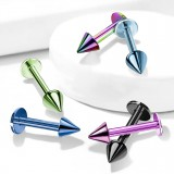 Piercing labret 07 - PVD pointe