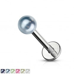 Piercing labret UV 12 - Perles brillantes