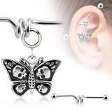 Piercing industriel 134 - Papillon gothique