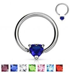 Piercing anneau 1,6mm 09 - Cristal coeur