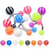 Piercing nombril UV 06 - Beach-Ball