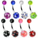 Piercing nombril UV 21 - Multistrass