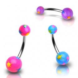 Piercing nombril UV 39 - étoiles fantaisy