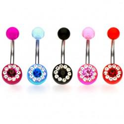 Piercing nombril UV 55 - Multistrass B
