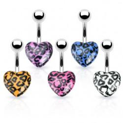 Piercing nombril UV 58 - Coeur panthère