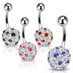 Piercing nombril cristal 14 - Férido tacheté