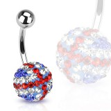 Piercing nombril cristal 33 - Férido British