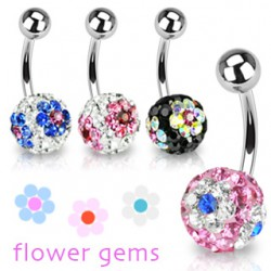 Piercing nombril cristal 22 - Férido Flower