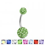 Piercing nombril cristal 27 - Mini férido