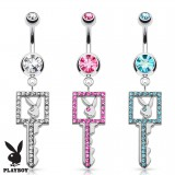 Piercing nombril Playboy 17 - Clé multistrass