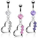 Piercing nombril coeur 31 - Trois fleurs