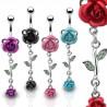 Piercing nombril fleur 04 - Roses
