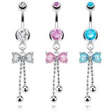 Piercing nombril noeud papillon 09 - Chainettes
