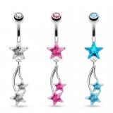 Piercing nombril étoile 01 - Pendantes