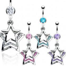 Piercing nombril étoile 04 - Triple