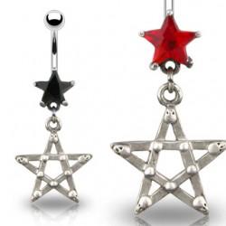 Piercing nombril étoile 05 - Gothique