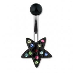 Piercing nombril étoile 09 - Noir