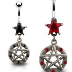 Piercing nombril étoile 22 - Gothique