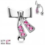 Piercing nombril inversé 28 - Noeud papillon
