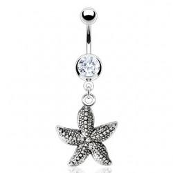 Piercing nombril étoile de mer réaliste (11)