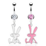 Piercing nombril lapin assis (68)