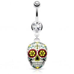 Piercing nombril gothique 23 - Crane Mexicain C