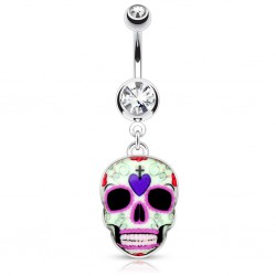 Piercing nombril gothique 24 - Crane Mexicain D