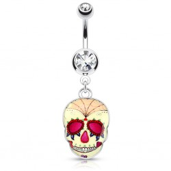 Piercing nombril gothique 06 - Crane Mexicain A