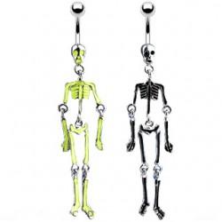 Piercing nombril gothique 48 - Squelette
