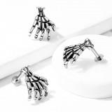 Piercing micro-labret 34 - Main squelette