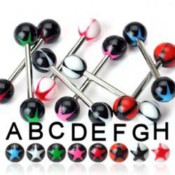 Piercing de langue UV 66 - étoile AA