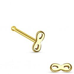 Piercing stud de nez 0.5mm 55 - Or-9k infinity