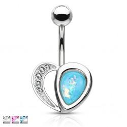 Piercing nombril coeur 41 - Gem paillettes