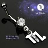 Piercing nombril zodiaque 03 - Scorpion