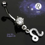 Piercing nombril zodiaque 04 - Lion