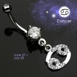 Piercing nombril zodiaque 05 - Cancer