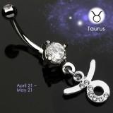 Piercing nombril zodiaque 06 - Taureau